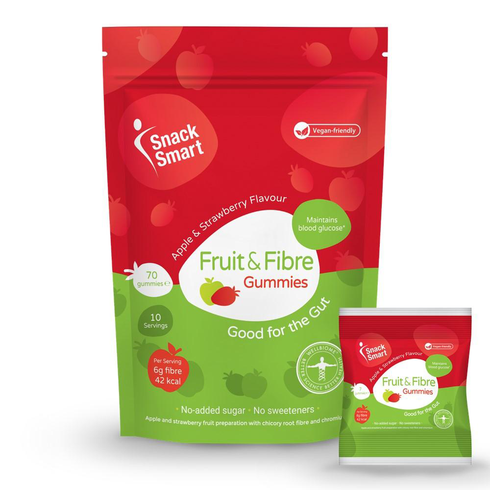 high fibre fruit gummies